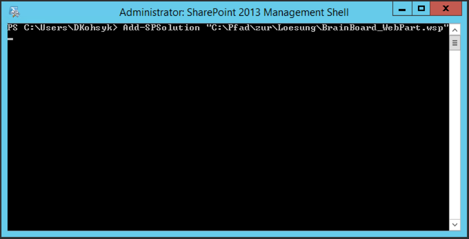 Add SPSolution Management Shell SharePoint
