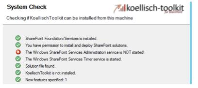 SharePoint dienst gestartet?