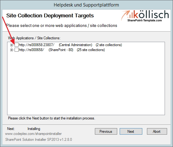 Helpdesk als SharePoint Webapplication