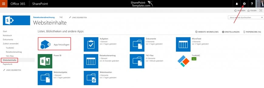SharePoint Online Toolkit 42 Suite SharePoint Hosted App aktivieren