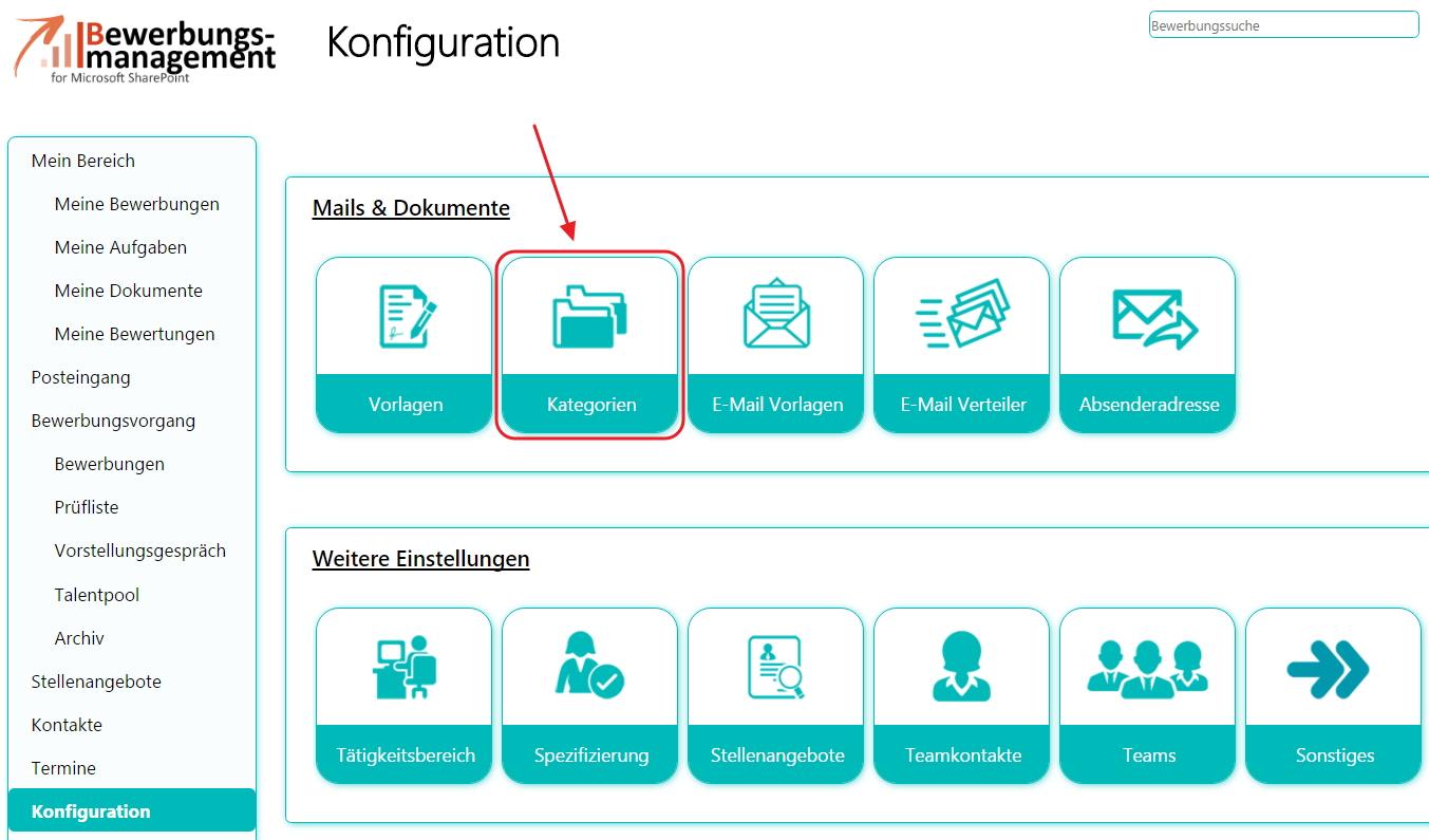 Konfigurationsübersicht des Bewerbermanagements für SharePoint 2013