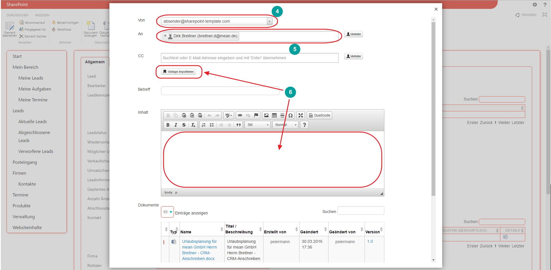 Nutzung des E-Mail-Client und der E-Mail-Vorlagen / Knowledge base ...