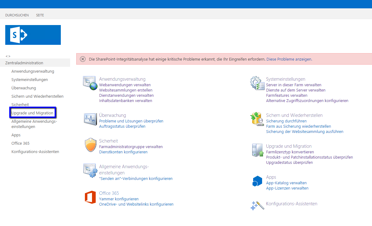 SharePoint Upgrade und Migration