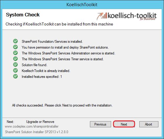 Toolkit update ausführen 3 SharePoint