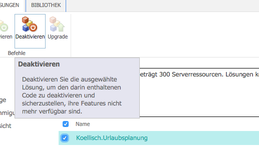 Updateanleitung f r die urlaubs und personalplanung f r for Knowledge base template sharepoint 2013