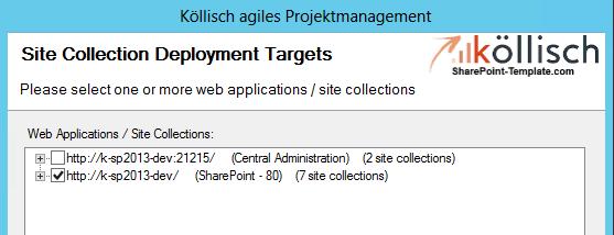 SharePoint Projektmanagement auswählen