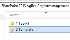 SharePoint Projektmanagement Template auswahl