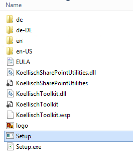 SharePoint Toolkit Setupdatei