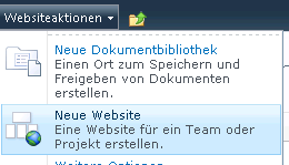 Team Collaboration Website auswählen