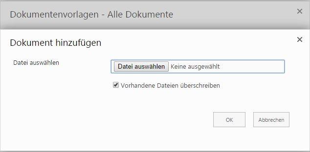 Konfiguration der Dokumentvorlagen