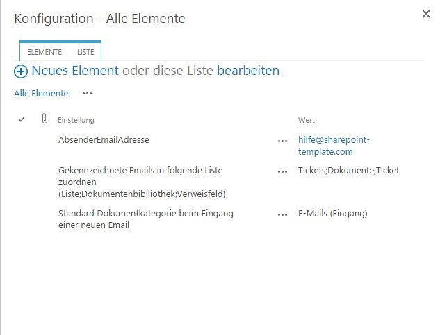 SharePoint E-Mail-Absender