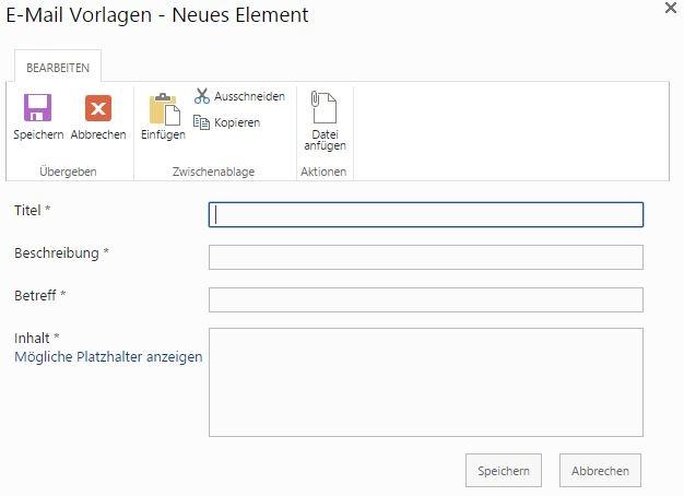 SharePoint E-Mail-Vorlagen