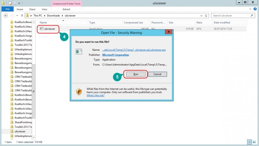 SharePoint Log Erstellung Fehleranalyse Protokollerstellung ULS Viewer öffnen
