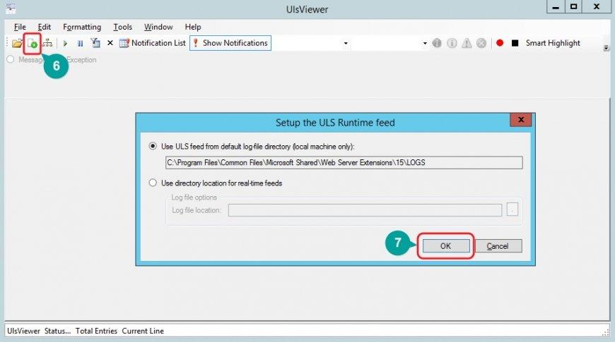 SharePoint Log Erstellung Fehleranalyse Protokollerstellung ULS Viewer starten