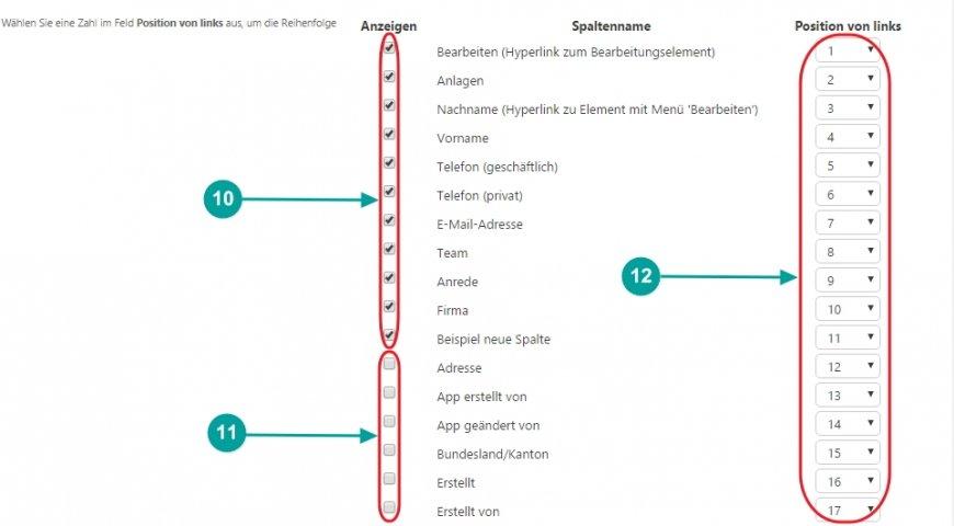 SharePoint Lösung Spalte Liste sortieren flexibel anpassbar Sortierung Reihenfolge