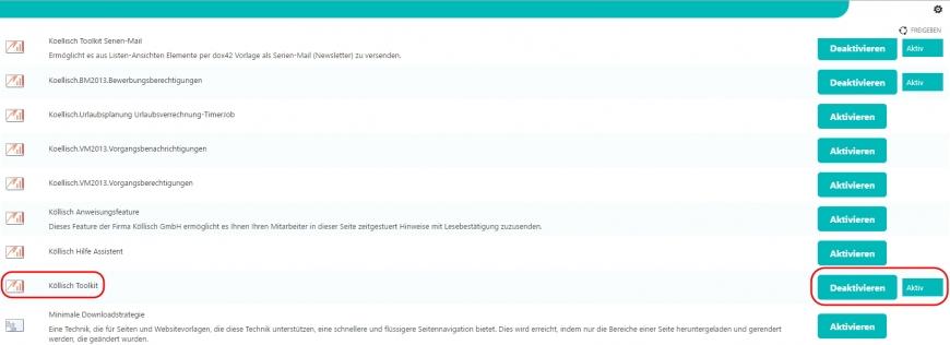 koellisch-toolkit aktivieren SharePoint