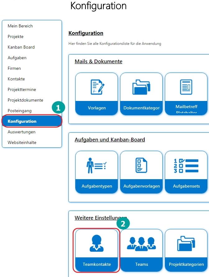 Über die Konfiguration können Sie Bilder einem Teamkontakt in SharePoint 2013 anlegen