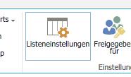 SharePoint Listeneinstellungen