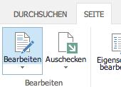 WebParts Bearbeiten