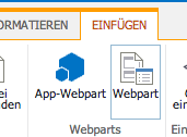 WebParts einfügen