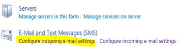 Konfiguration von ausgehende Mails in der SharePoint Zentraladministration