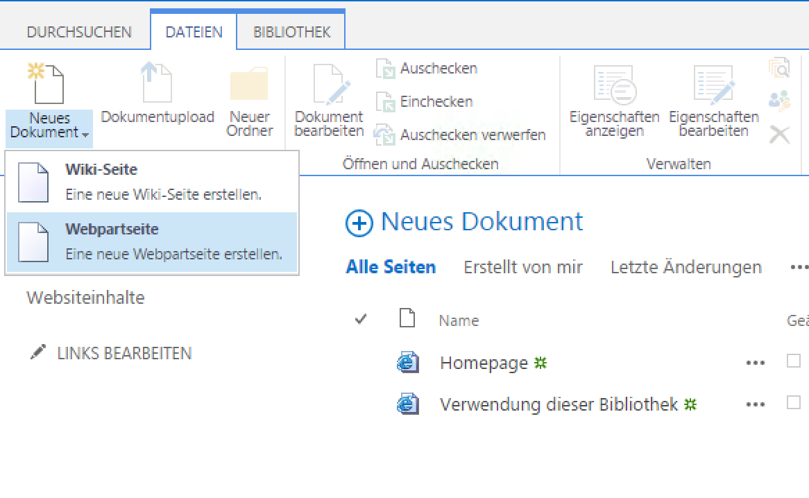 SharePoint create new WebPartPage