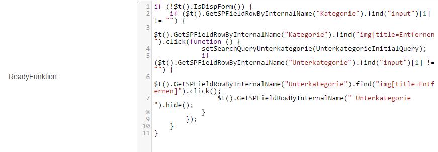 Screenshot Kategorie ReadyFunction